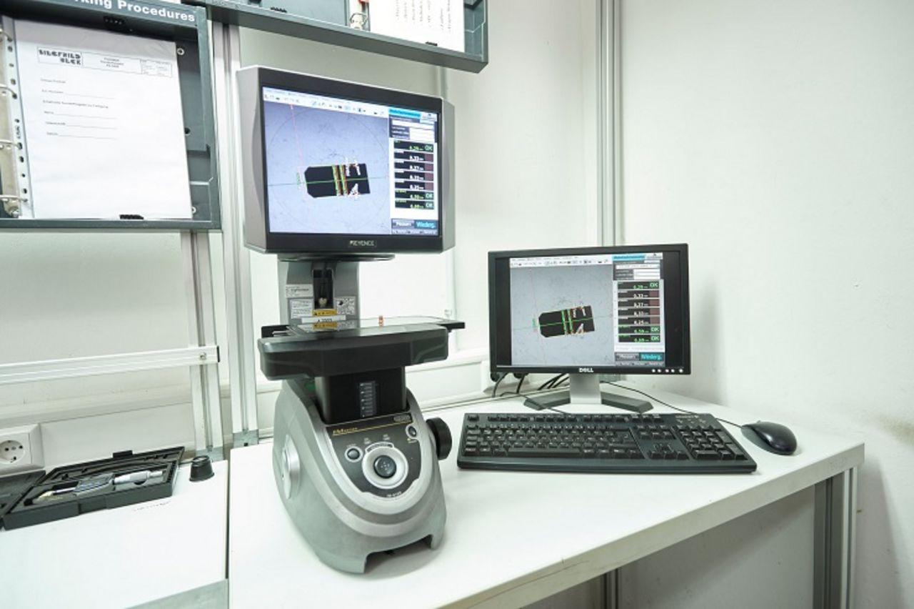 Produktionsbegleitende Prüfung mittels Digitalprojektor